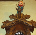 A little dusty, but the little bastard can still climb on top of the coocoo clock!