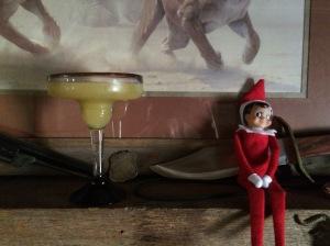 Elf looking at margarita
